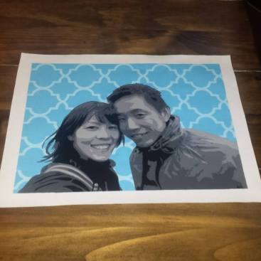 """Wedding Portrait Commission 8.5""""x11"""""""