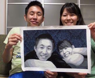 """Couples Portrait Commission 11""""x17"""""""