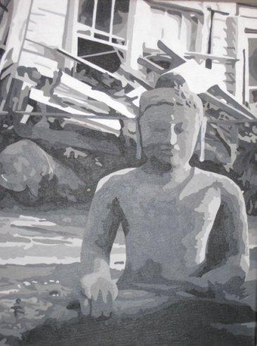 "Buddha after Katrina - 16"" x 24"""