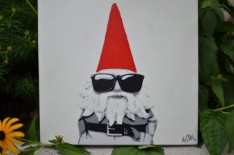 """Hipster Gnome - 12"""" x12"""""""