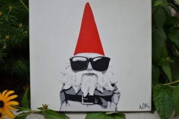 "Hipster Gnome - 12"" x12"""