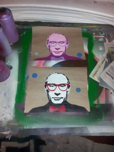 Hipster Putin Factory Line